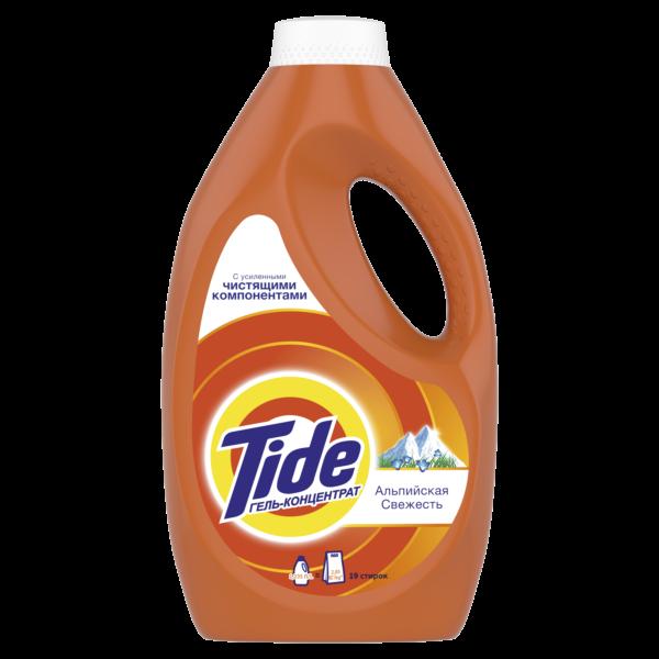 Жидкий стиральный порошок Tide тайд Альпийская свежесть, 19 стирок, 1.235л = 2,85 кг