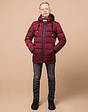 Braggart Kids | Куртка зимняя детская 60455 бордовая, фото 2