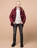 Braggart Kids | Куртка зимняя детская 60455 бордовая, фото 3