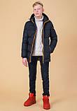 Braggart Kids | Куртка зимняя детская 65122 темно-синяя, фото 3