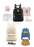 Рюкзак с сумкой и пенал 4в1 набор 23*29*13 см, фото 4