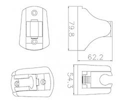 Тримач душевої лійки, IMPRESE S023 CP хром, фото 2