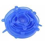 Силиконовые универсальные крышки SILICON CAP 6PCS SET 6 шт Синий, фото 6