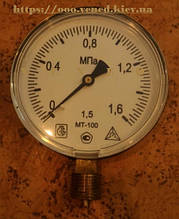 Манометр МТ-100М 0-1,6 МПа