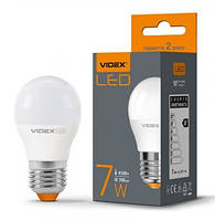 LED лампа светодиодная VIDEX G45e 7W E27 4100K 220V