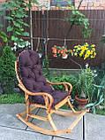 Кресло качалка Классик  натуральная с полозьями из бука до 150 кг, фото 2