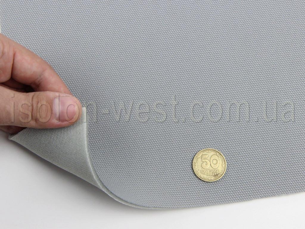 Автоткань оригинальная потолочная 1503s, цвет серый, на поролоне 3 мм и сетке ширина. 1.50м