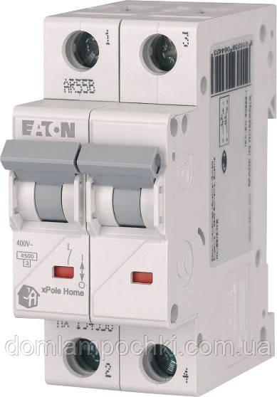 Выключатель автоматический двухполюсный HL-C6/2 Eaton