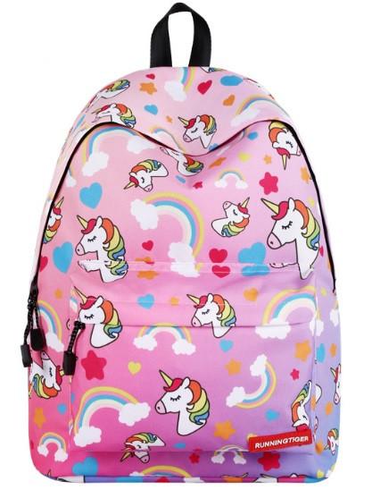 Рюкзак молодежный Единороги Розовый RT