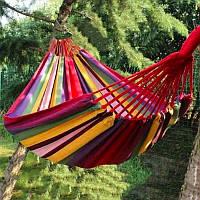Гамак гавайский \ мексиканский для отдыха из хлопка (Живые фото)