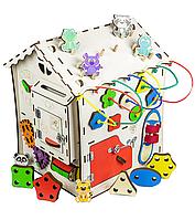 Развивающий домик бизикуб (бизиборд) для детей (мальчиков и девочек) от 1 года, бизиборд домик
