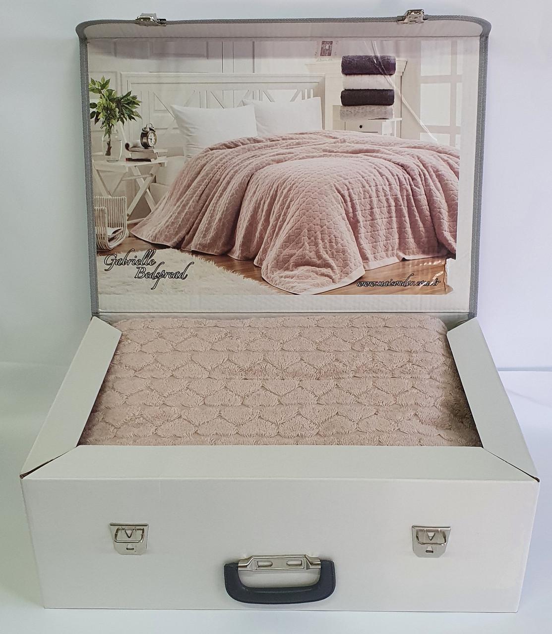 Покривало Maison d'or Махровий Gabriella 220*240 Rosa