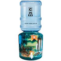 Керамический диспенсер для воды «Водопад Зеленый», фото 1