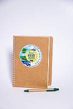 Эко блокнот и ручка с печатью