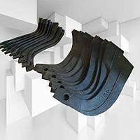 Ножи для почвофрезы R175 / 180N / 190N / 195NM(190мм) ( 9 правый + 9 левый) - 18шт( комплект) мотоблоков