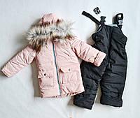 Детский зимний комбинезон на девочку 2 3 4 года, зимние костюмы детские, фото 1