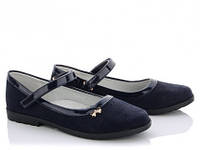 Детские туфли M.L.V. на девочку. Цвет синий. Размер 32-37