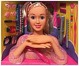 ✅Кукла 8415 манекен, голова, кукла для причесок, фото 4
