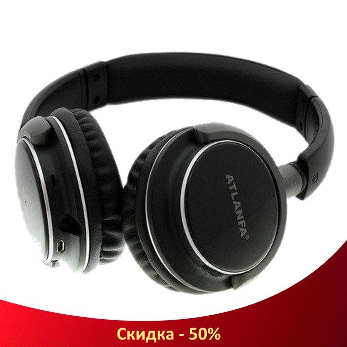 Беспроводные наушники ATLANFA AT-7612 - Bluetooth стерео наушники с MP3 плеером и FM радио (R32)