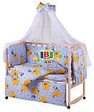 Детский комплект в кроватку 9в1 Мишки спят, комплект в кроватку, набор в кроватку, фото 7
