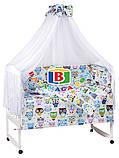 Детский комплект в кроватку 9в1 Мишки спят, комплект в кроватку, набор в кроватку, фото 5