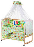 Детский комплект в кроватку 9в1 Мишки спят, комплект в кроватку, набор в кроватку, фото 6