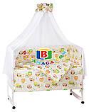 Детский комплект в кроватку 9в1 Мишки спят, комплект в кроватку, набор в кроватку, фото 8
