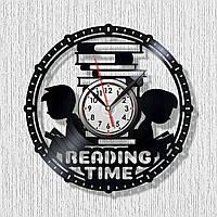 Библиотека часы Горы книг Книга знаний часы Время для чтения Я люблю книги Учимся читать часы Часы виниловые