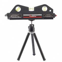 Уровень лазерный, 170 мм, 150 мм штатив, 3 глазка// MTX