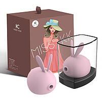 Вакуумный клиторальный стимулятор с вибрацией KisToy Miss KK Pink, фото 5