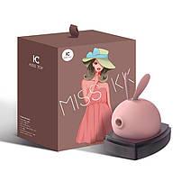 Вакуумный клиторальный стимулятор с вибрацией KisToy Miss KK Pink, фото 7