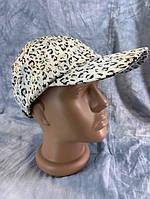 Кепка женская атласная леопардовая