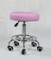 Парикмахерское кресло стул мастера HC635K лавандовый