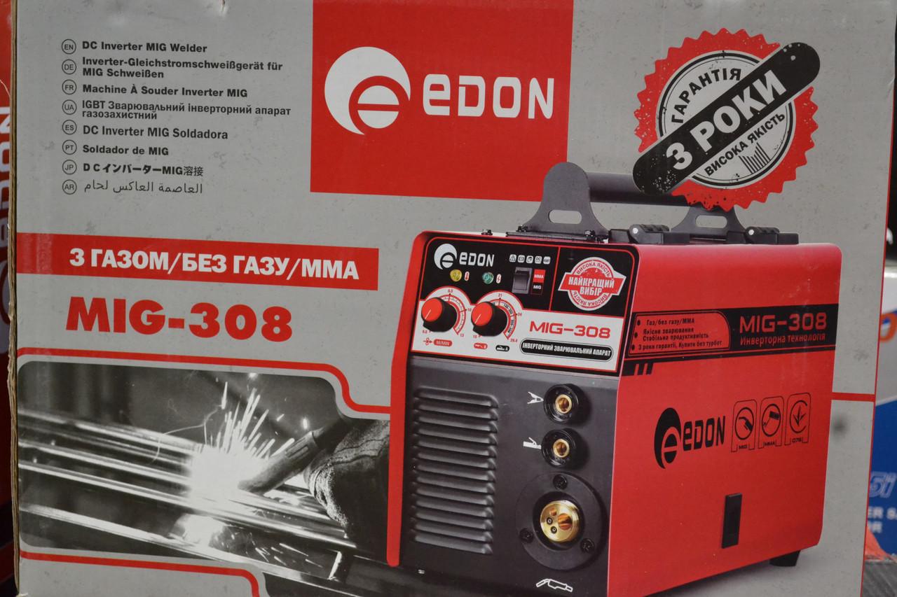 Зварювальний напівавтомат Edon MIG 308, 2в1