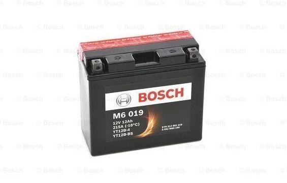 Мото Аккумулятор Bosch M6 019 (YT12B-BS) 12 Ah 215A