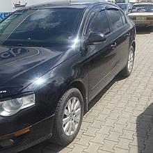 Дефлектори вікон (вітровики) клеючі / накладні Д/VW Passat B6/В7 2005 -> 4D Sedan 4шт (ANV-AIR)