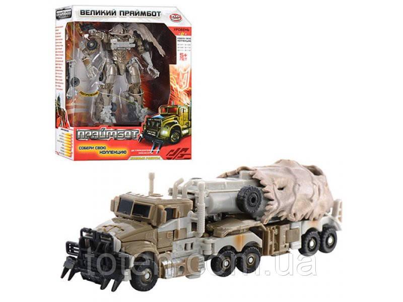 """Робот-трансформер H 604 Праймбот, робот 17 см """"Трейлер военный"""" Play Smart Т"""