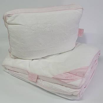 Набор детский Maison D'or Одеяло + Подушка Coral Pink
