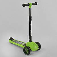 Дитячий триколісний самокат Best Scooter 35857 Зелений, фото 1