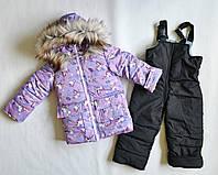 Детский зимний комбинезон на девочку 2-4 года, зимние костюмы детские, фото 1