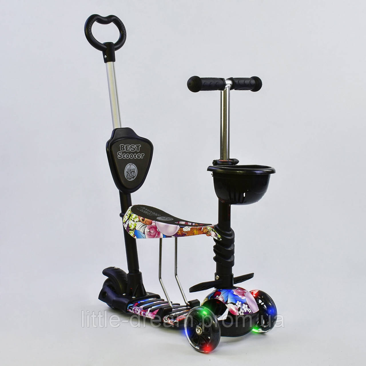 """Самокат Best Scooter 5 в 1 """"Абстракція"""" 68990 підсвічування коліс"""