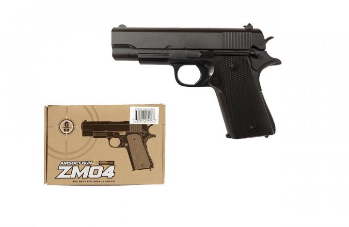Игрушечный металический пистолет CYMA ZM04 с пластиковыми пулями