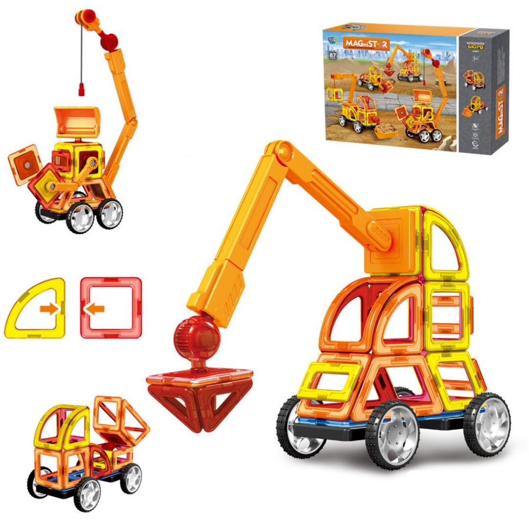 """Магнитный 3D конструктор """"Конструкторское бюро"""" на 87 дет, Limo Toy LT6001"""