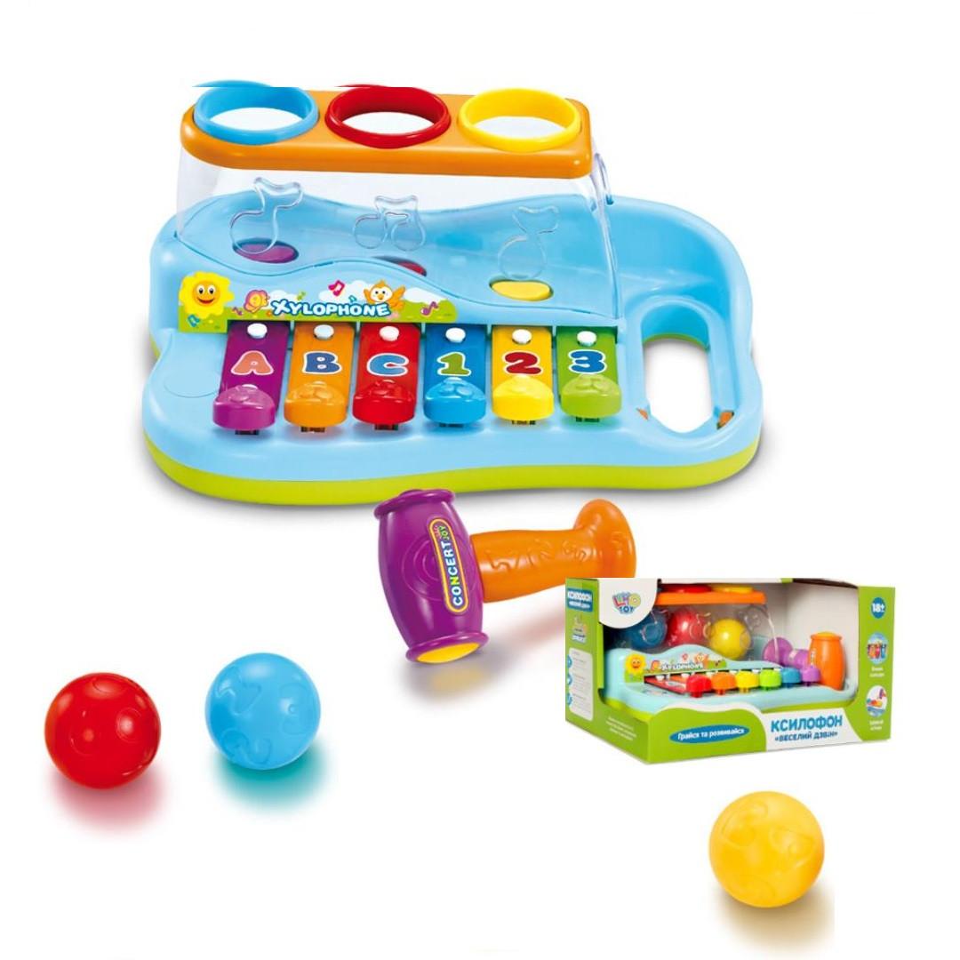 "Детский ксилофон ""Весёлый звон"" Limo Toy 9199"