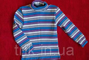 Гольф детский теплый сиреневая и голубая  полоска, фото 2