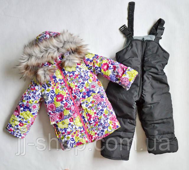 Зимний детский комбинезон на девочек