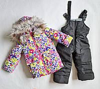Детский зимний комбинезон для девочек 2 3 4 года, зимние костюмы детские, фото 1