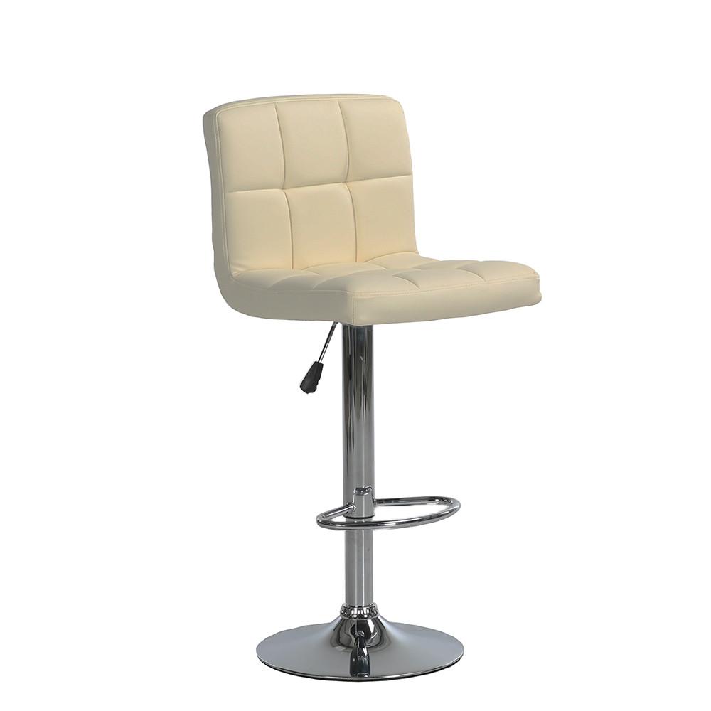 Барный стул хокер металический с нагрузкой до 120 кг мягкий с оборотом на 360 градусов бежевый