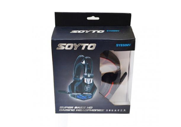 Наушники для геймеров с микрофоном, наушники для компьютера SOYTO SY850MV, фото 2