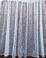 Тюль готовая пошитая с тесьмой белая 150*300 м Другой размер код 014855, фото 1